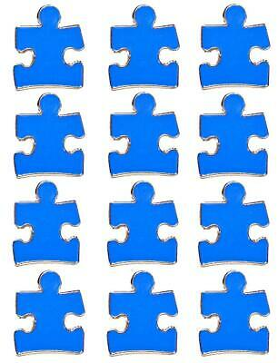 Blue Puzzle Piece Pin (12 Pack Autism Awareness Puzzle Piece Blue Lapel Hat Pins Raise Awareness)