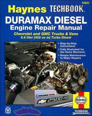 Duramax Diesel Engine Shop Manual Service Repair Book Chevrolet Haynes 2001 2012