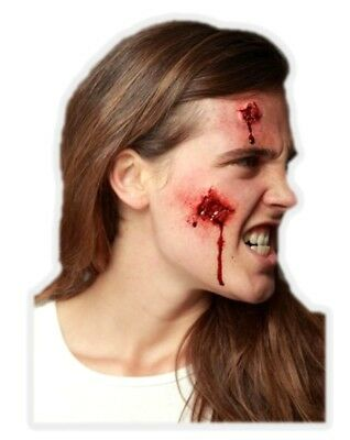 Open Wounds Latex Appliance Adult Halloween Bloody Gash Prosthetic Make-up
