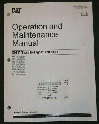 Cat Caterpillar D6t Tractor Crawler Dozer Operation Maintenance Book Manual