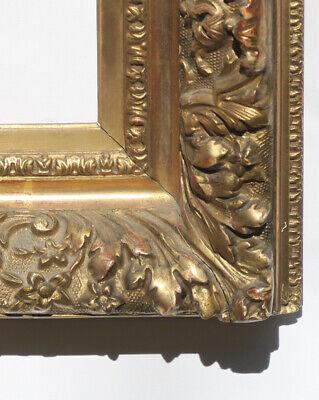 Antique 19 C French Rococo Gold Gilt American Barbizon Oil Painting Frame PARIS - $479.00