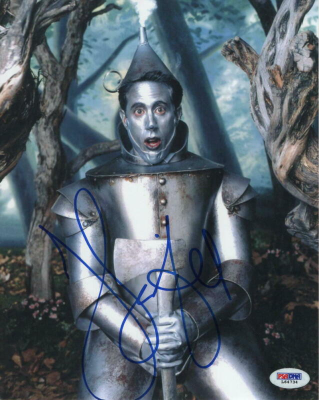 JERRY SEINFELD SIGNED AUTOGRAPH 8x10 PHOTO - RARE ROLLING STONE WIZARD OF OZ PSA