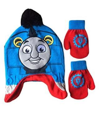Toddler Boys THOMAS the Tank Engine Friends Trapper Hat & Mittens NEW - Toddler Engineer Hat