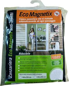 Zanzariera magnetica con calamita 100x220 universale porta finestra riducibile ebay - Zanzariera magnetica finestra ...
