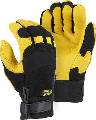 Golden Eagle mechanics INSULATED deerskin gloves leather work riding 2150H Golden Eagle Mechanics Gloves