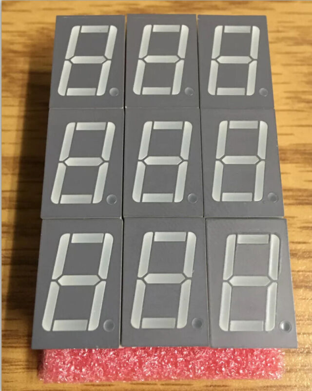 9-PC Lot Toyo LED Red 7 Segment Display E10561-G-UR4-8-W *FREE SHIPPING!*