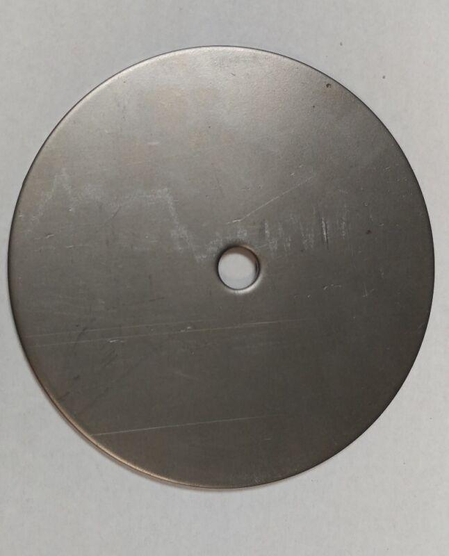 "12 Ga. Steel Plate, Disc Shaped, 5 1/4"" Diameter Circle 1/2"" Center Hole"