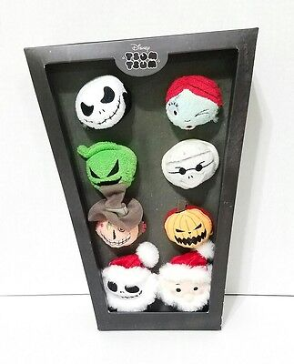 Disney Parks The Night Before Christmas Set of eight Tsum Tsum Jack Sally Mayor  - The Night Before Christmas Sally