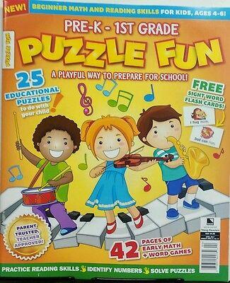 Pre K - 1st Grade Puzzle Fun April 2017 Educational Math Games FREE SHIPPING - Pre K Educational Games