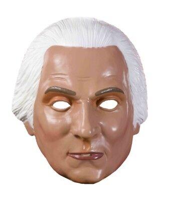 George Washington Mask Plastic Half President Costume Accessory Pvc Patriotic - George Washington Halloween Mask