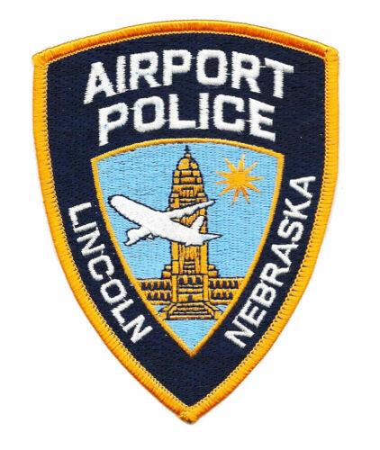 POLICE PATCH NEBRASKA NEB NE LINCOLN AIRPORT AVIATION UNIVERSITY CORNHUSKERS PD