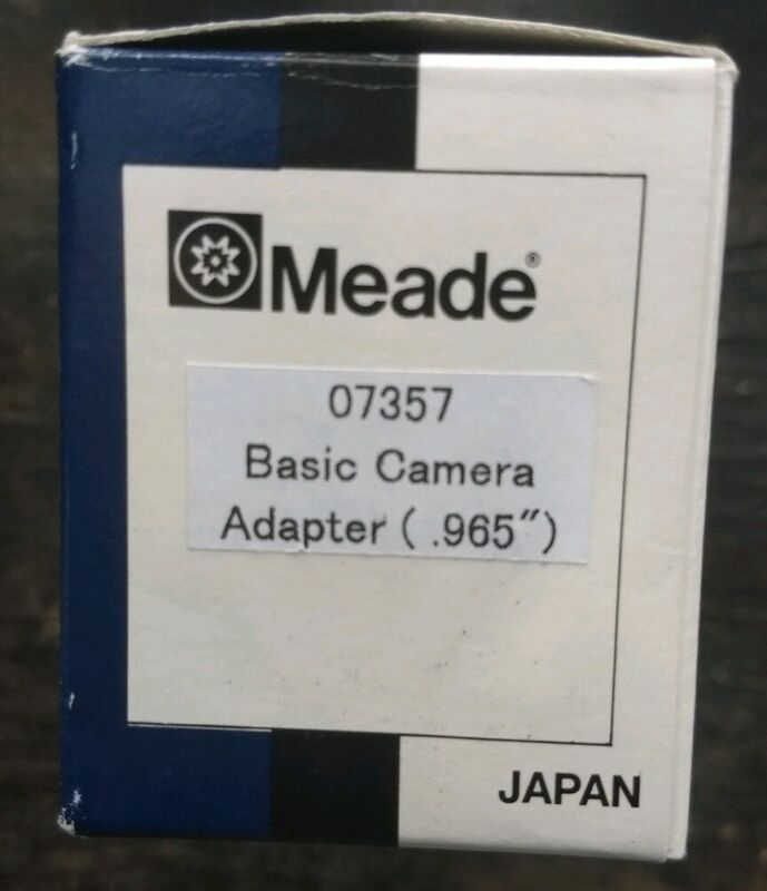 "Meade Basic Camera Adapter (0.965"") for 35mm Camera."