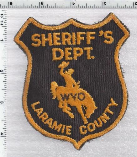 Laramie County Sheriff (Wyoming) 2nd Issue Uniform Take-Off Shoulder Patch