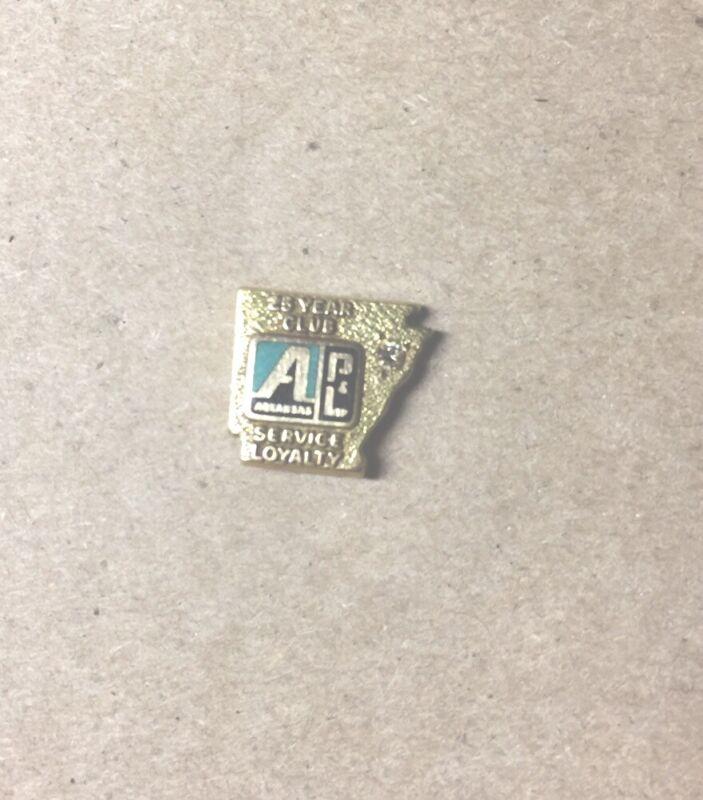 Vtg Arkansas Power & Light 25 yr service pin 14k 2 + grs solid gold power lines
