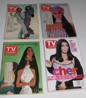 Four Sonny & Cher TV Guides 1973 1974 1975 1999
