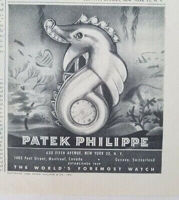 1946 Patek Philippe seahorse design vintage watch original ad