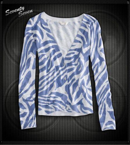 Girls Size X-small 5-6 77kids American Eagle Animal Print Cardigan Sweater
