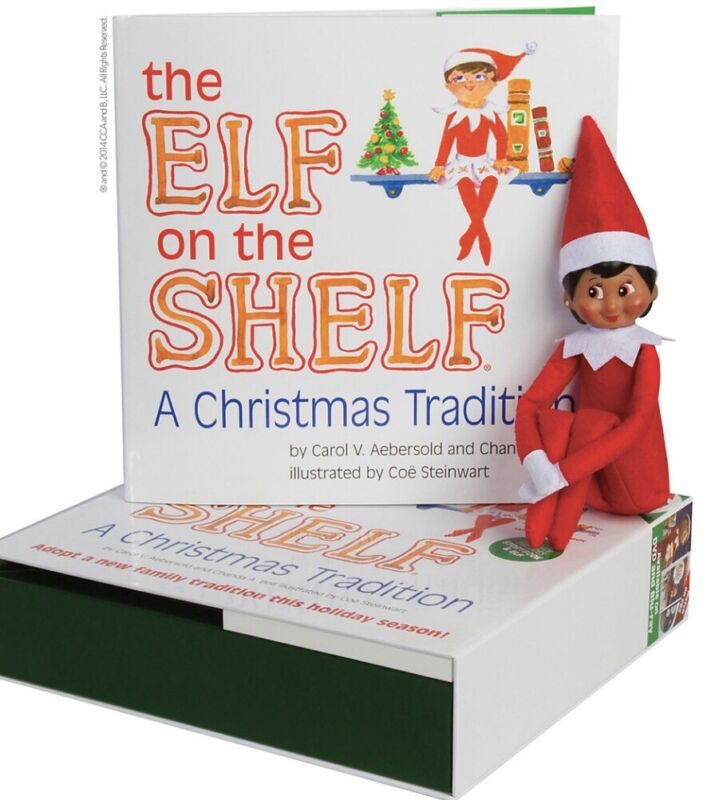 Elf on the Shelf A Christmas Tradition Girl Elf With Blue Eyes & Book Set. NEW!!