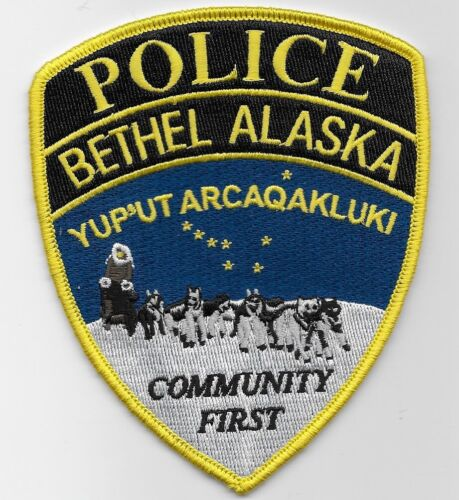 Scenic Sled patch Bethel Police State Alaska AK