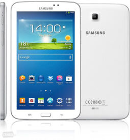 New Samsung Galaxy Tab 3 White Android 7 Inch Screen T2100 WI-FI Tablet PC 8GB Bluetooth MicroSD