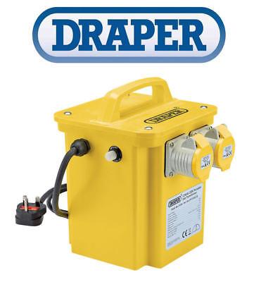 DRAPER 3.3KVA Site Transformer Portable Box Twin 16 AMP 110v Socket/Outlet 31264