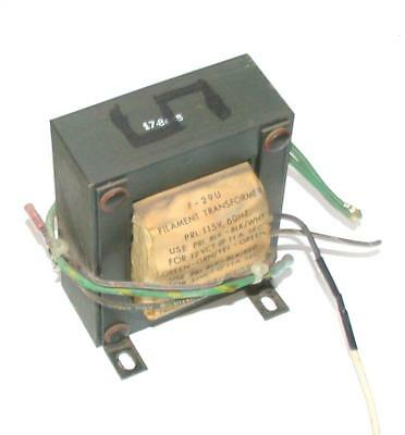Triad F-29u Filament Transformer Pri. 115 Vac 60 Hz Sec. 121110 Vac