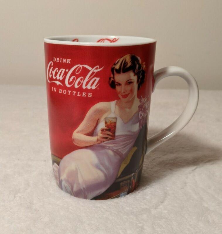 Coca-Cola Coke Ceramic Coffee Mug Vintage Style Drink Coca-Cola in Bottles
