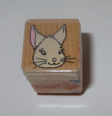 MOUSE Face Rubber Stamp Whiskers Wood Mounted Mini 3/4