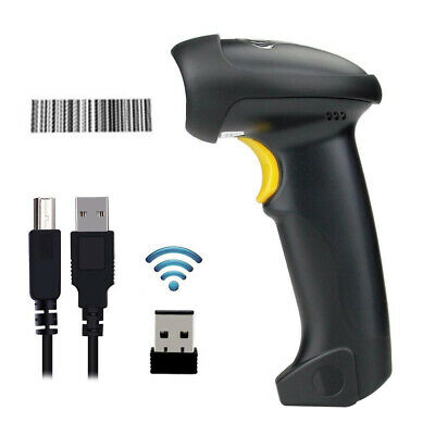 New 2.4g Usb Wireless Handheld Visible Laser Barcode Bar Code Scanner Reader