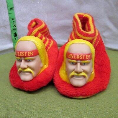 HULK HOGAN kids slippers WWF size 7-8 youth Hulkamania footwear 1991