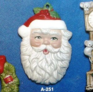 Ceramic Bisque Christmas Ornament Santa Head Alberta 251 U-Paint Ready To Paint