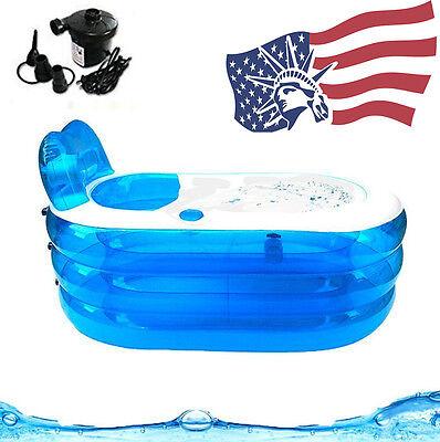 Adult PVC Portable Folding Inflatable Bath Tub with Air Pump for Family Bathroom