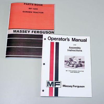 Massey Ferguson Mf 1200 Lawn Garden Tractor Mower Owners Operators Parts Manual