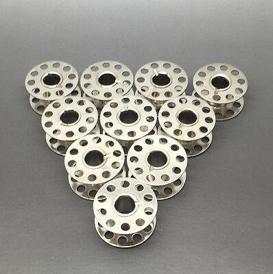 10 X Metal Bobbins - Sewing Machine Metal Spool UNIVERSAL Fits Most Brands