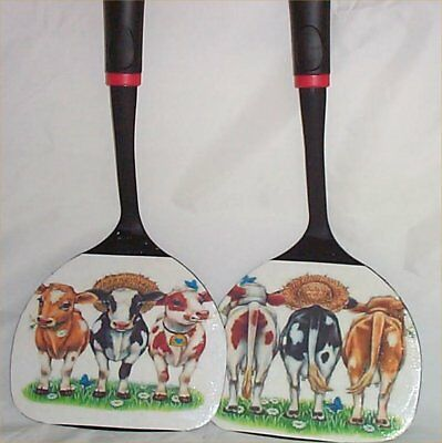 Cow Large Black Wall Utensils Decor Kitchen Decoration Country Farm 3 Cows #1