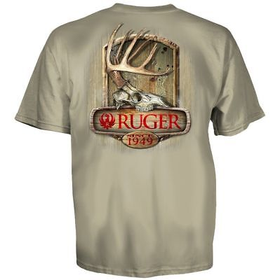 Ruger Firearms Since 1949 Deer Antlers T Shirt Mens Sizes S   3Xl New Licensed