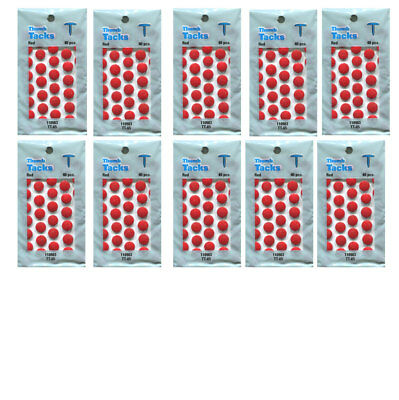 Red Thumb Tacks Newell Rubbermaid 10 Packs X 40 Pieces Per Pack 400 Tacks Total