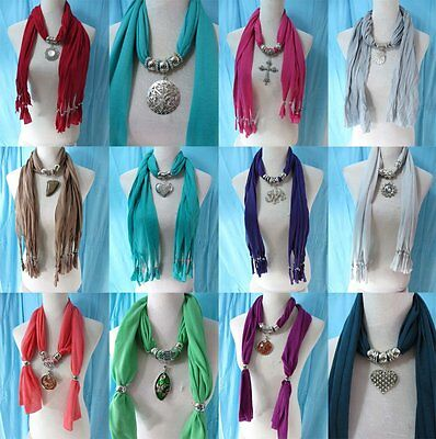 *US Seller*lot of 10 wholesale  pendant necklace scarf charm jewelry