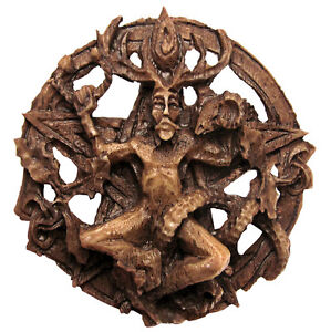 Cernunnos Round Wall Plaque - Dryad Design - Celtic Horned God Wiccan Pagan