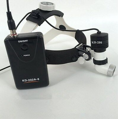 5w Dental Surgical Headlight Medical Headlamp High Brightness Kd-202a-6 Us Stock