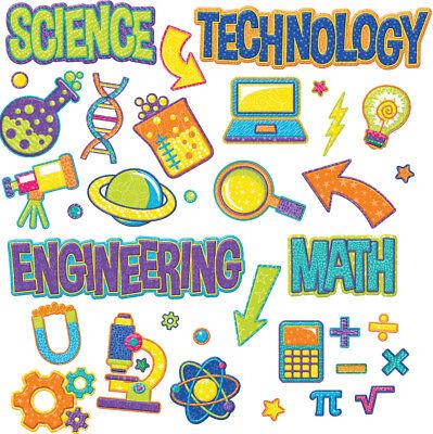 EU 847775 STEM Math Science Technology Engineering Bulletin Board Set  ()