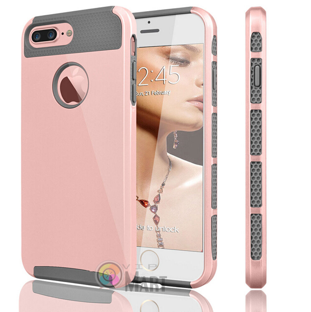Shockproof Hybrid Rugged Rubber Cover Case Hard For iPhone X 8 7 6 6s Plus