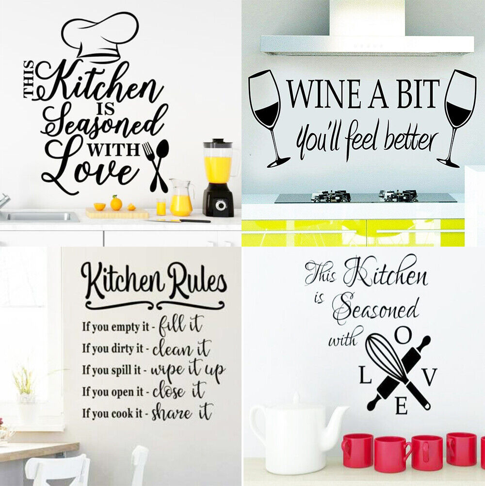 Home Decoration - Kitchen Wall Decals Removable Vinyl Sticker Art Home Personalised Decor Mural