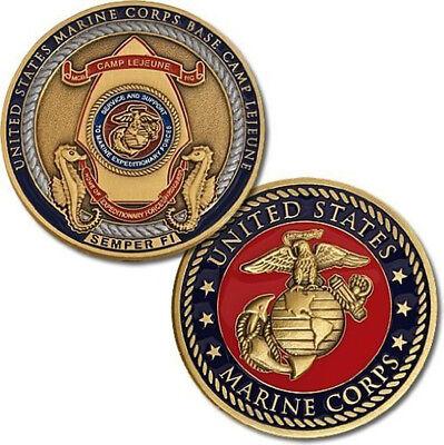 NEW U.S. Marine Corps Base Camp Lejeune Semper Fi Challenge Coin