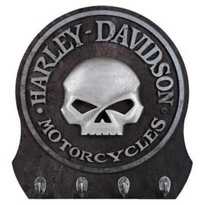 Harley Davidson Skull Key Rack/Holder - 4 Hooks - Harley-Davidson Gear