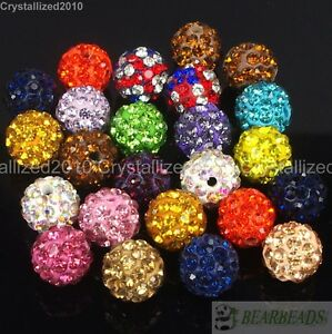20Pcs-Quality-Czech-Crystal-Rhinestones-Pave-Clay-Round-Disco-Ball-Spacer-Beads