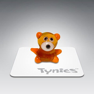 Ted Teddy Bear Clear Brown Tynies Glass Figure Figurines Collectibles 039
