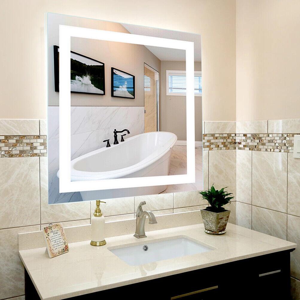 Extra Large 32x32in Antifog Bathroom Wall Mirror Makeup Illuminated Touch Mirror Ebay