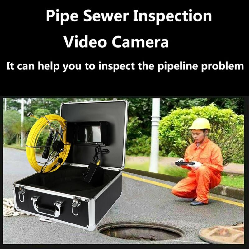 Pipe Pipeline Inspection Camera 30M/100ft Drain Sewer Industrial Endoscope Video