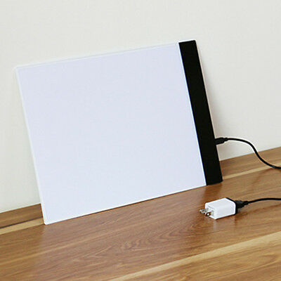 Bright A4 LED Light Art Board Box Tracing Copy Drawing Table Tattoo Pad +Adapter